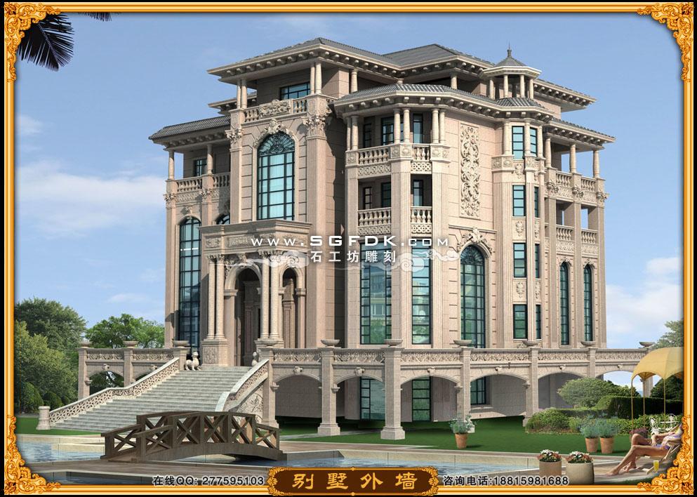 私人别墅施工设计图 - 惠安石工坊石雕雕刻厂